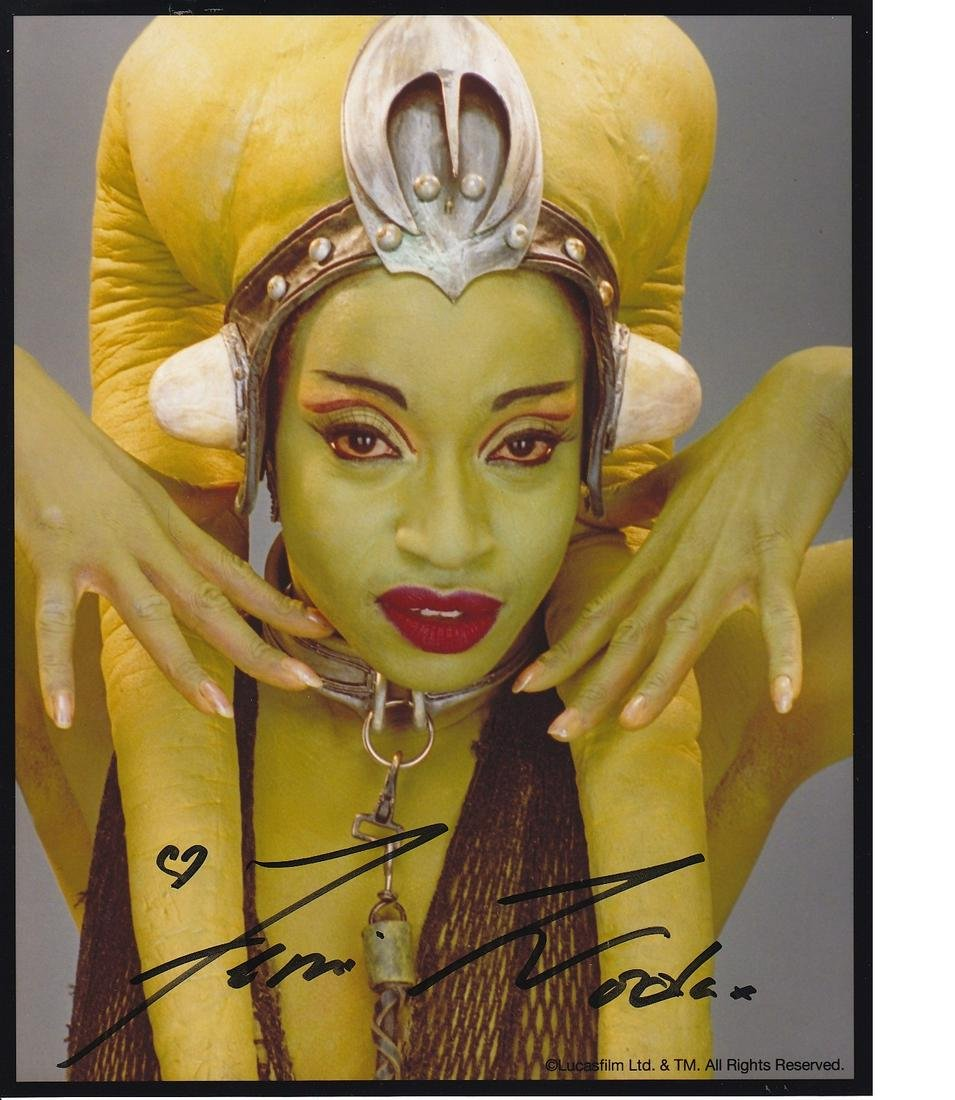 Femi Taylor Star Wars hand signed 10x8 photo. This