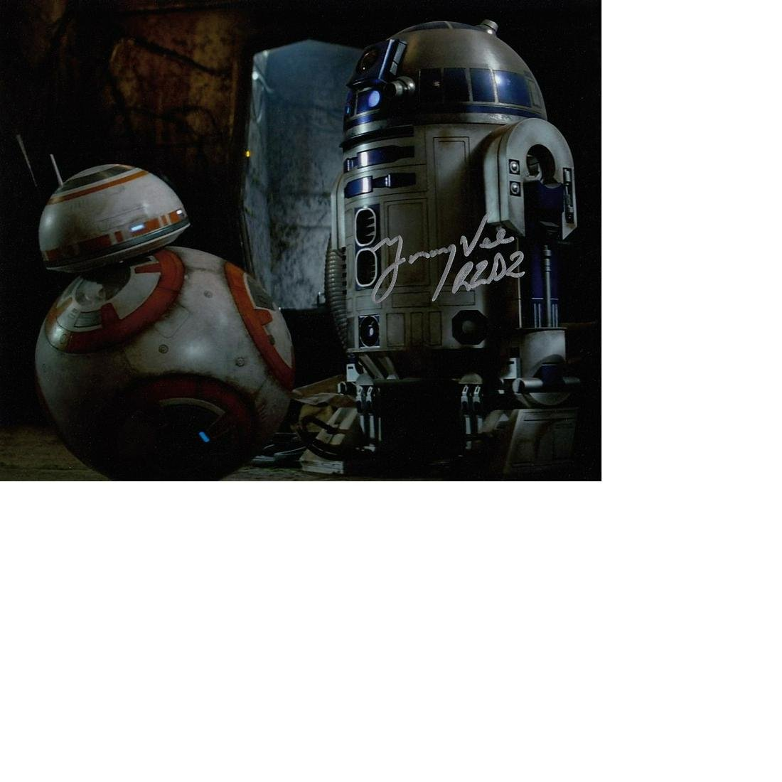 Jimmy Vee R2D2 Star Wars hand signed 10x8 photo. This