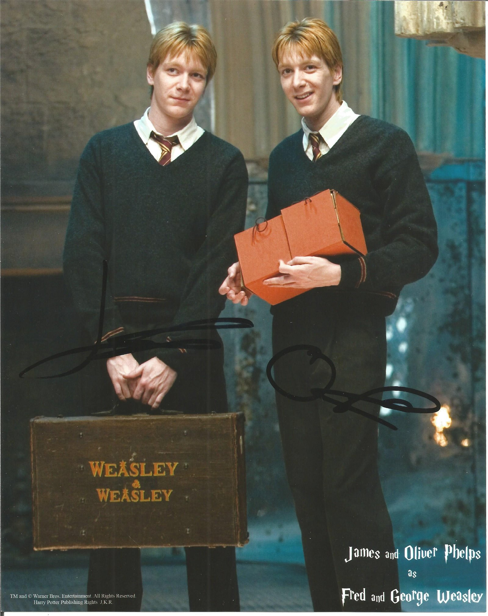 James & Oliver Phelps Actors Signed Harry Potter The