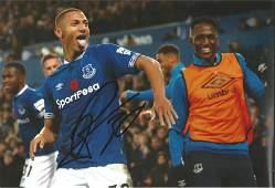 Richarlison Signed Everton 8x12 Photo. Good Condition.