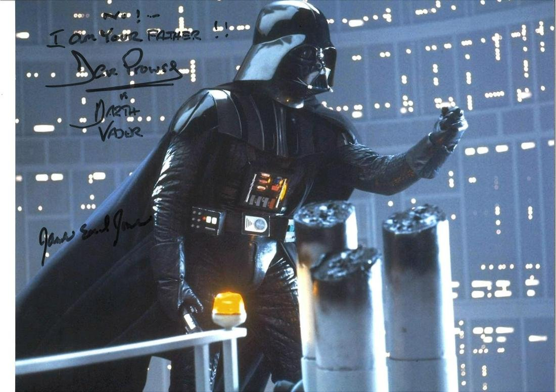 Star Wars Darth Vader 16x12 colour photo signed by Dave