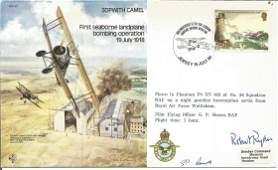 WW2 Battle of Britain pilot Robert Ryder signed Avro