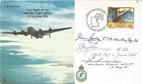 Three Handley Page test pilots, inc Sqn Ldr Hedley