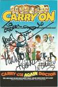 Jim Dale and Barbara Windsor signed Carry on Again