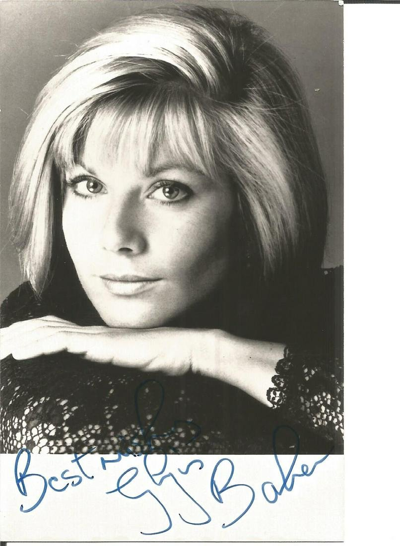 Glynis Barber signed 6x4 black and white photo. Good