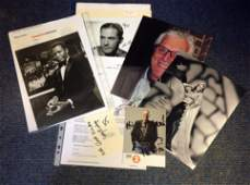 Entertainment collection 6 items signed photos and