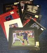 Football collection 8 mounted signed photos and