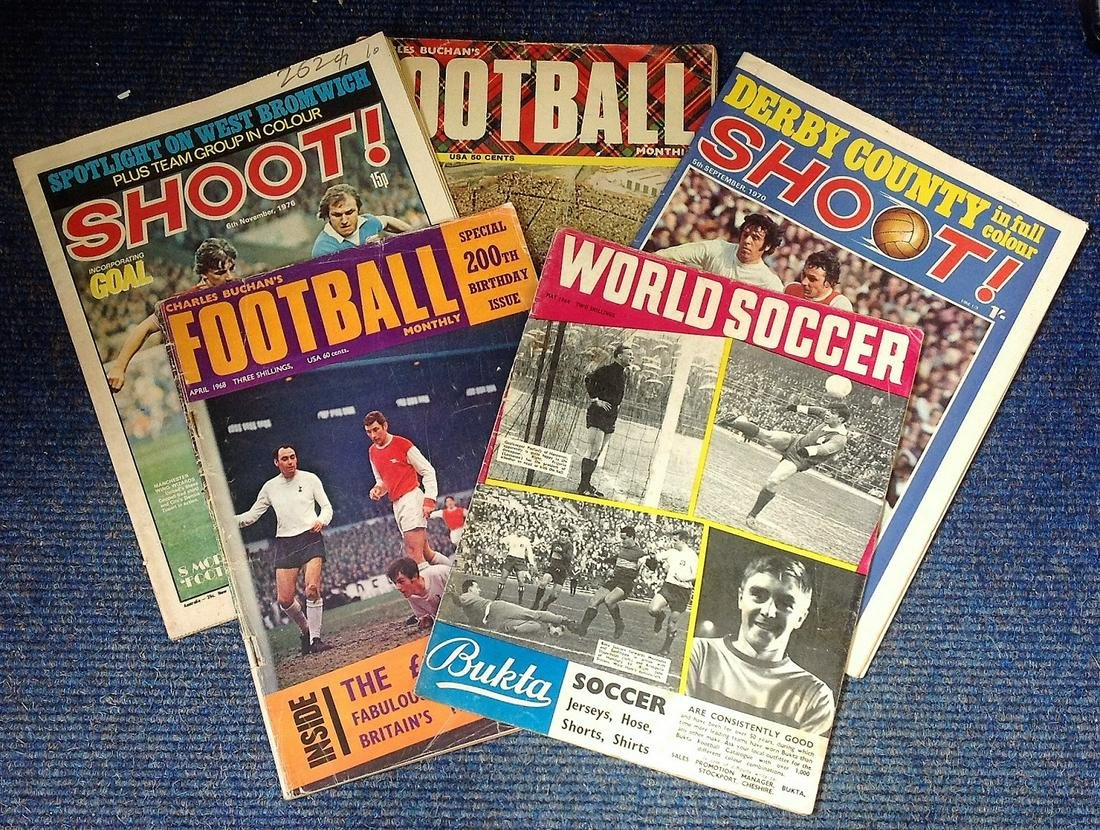 Football collection 5 vintage football magazines dating