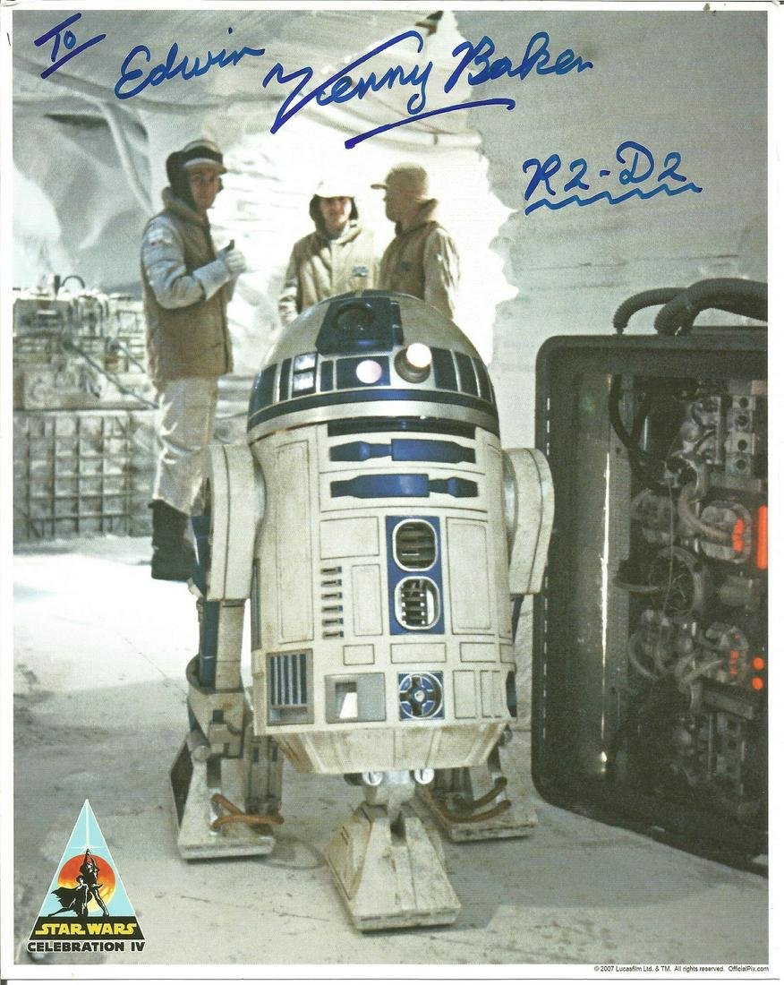 Kenny Baker signed 10x8 colour photo from Star Wars.