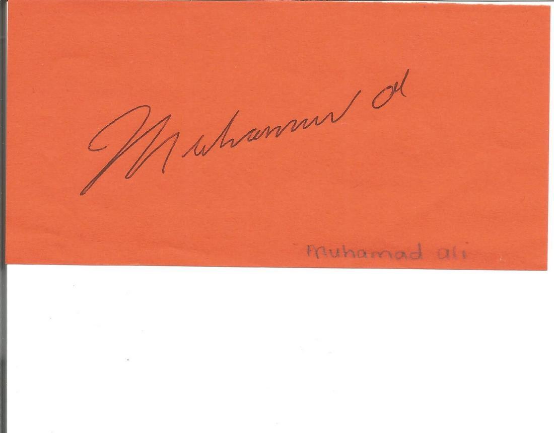 Muhammad Ali Boxings Greatest Signed Page. Good
