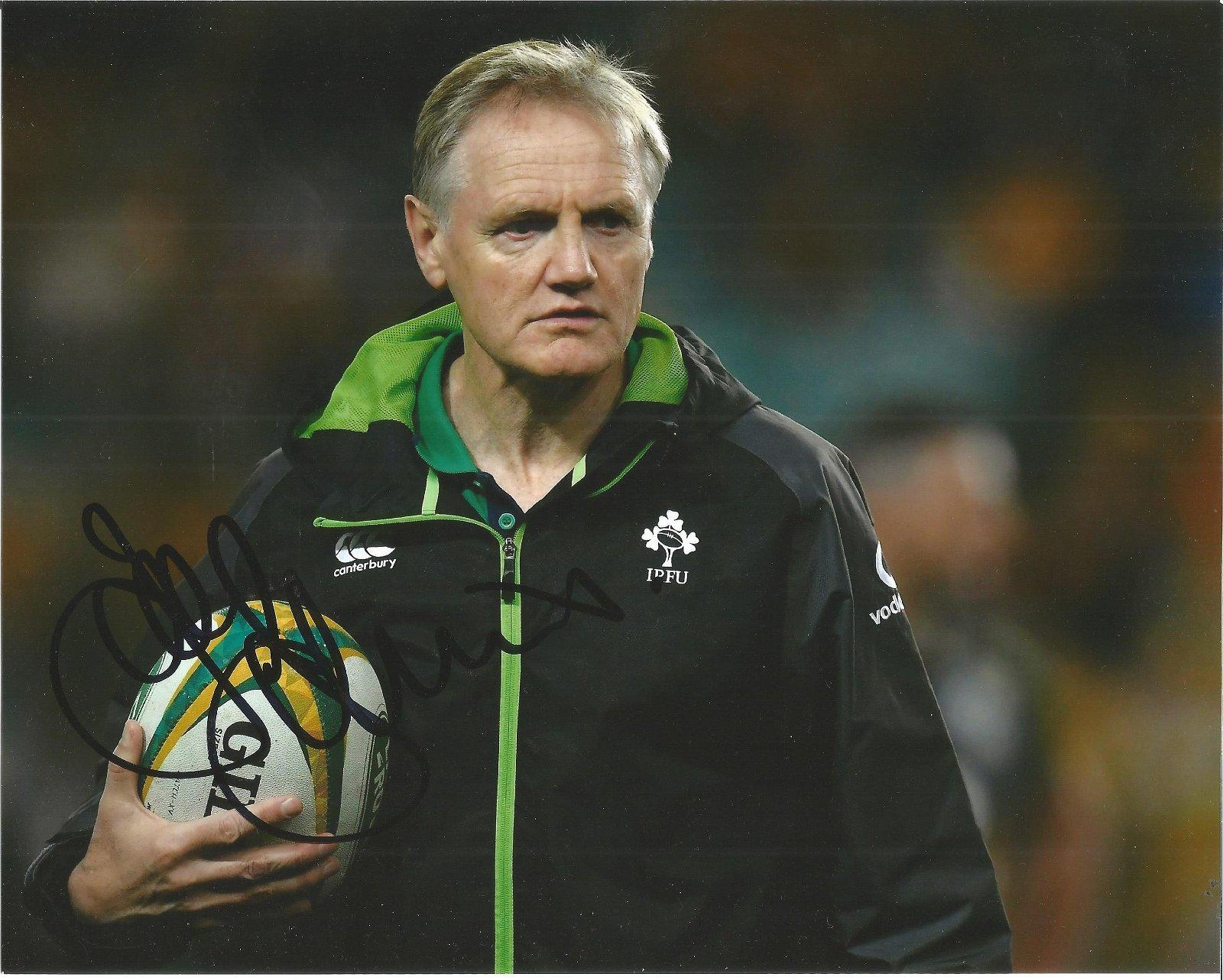 Joe Schmidt Signed Ireland Rugby Coach 8x10 Photo. Good