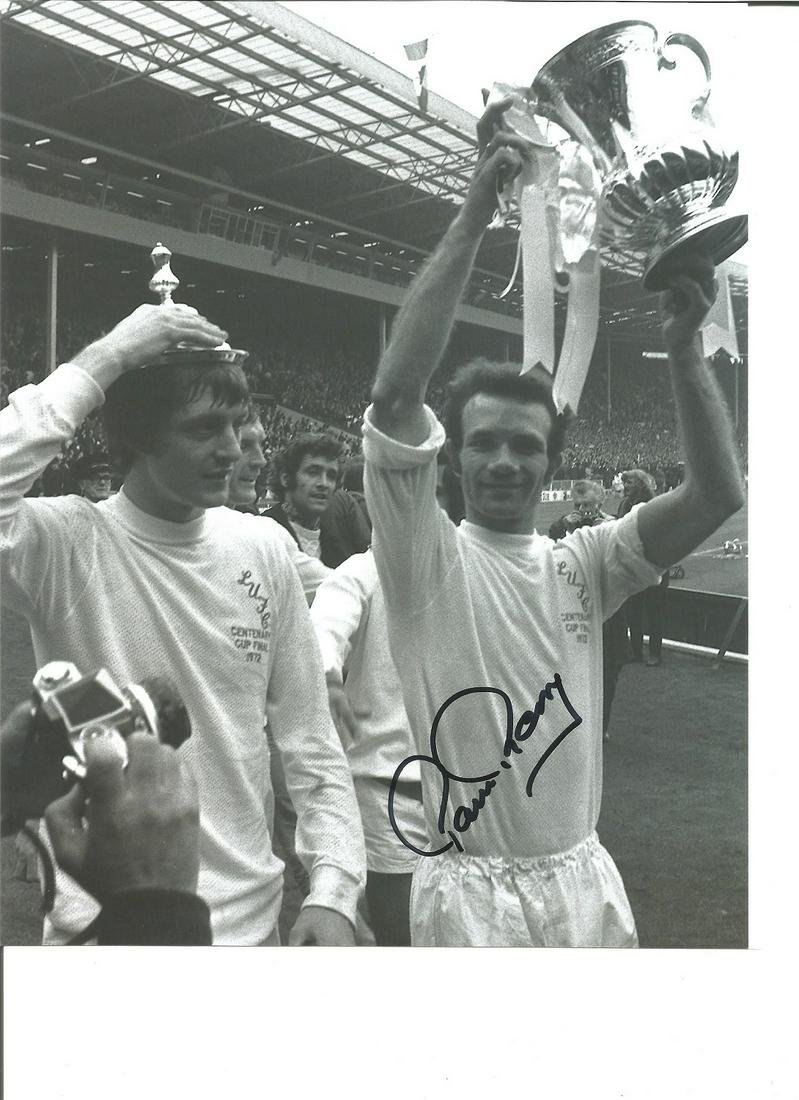 Paul Reaney 10x8 Signed B/W Football Photo Pictured