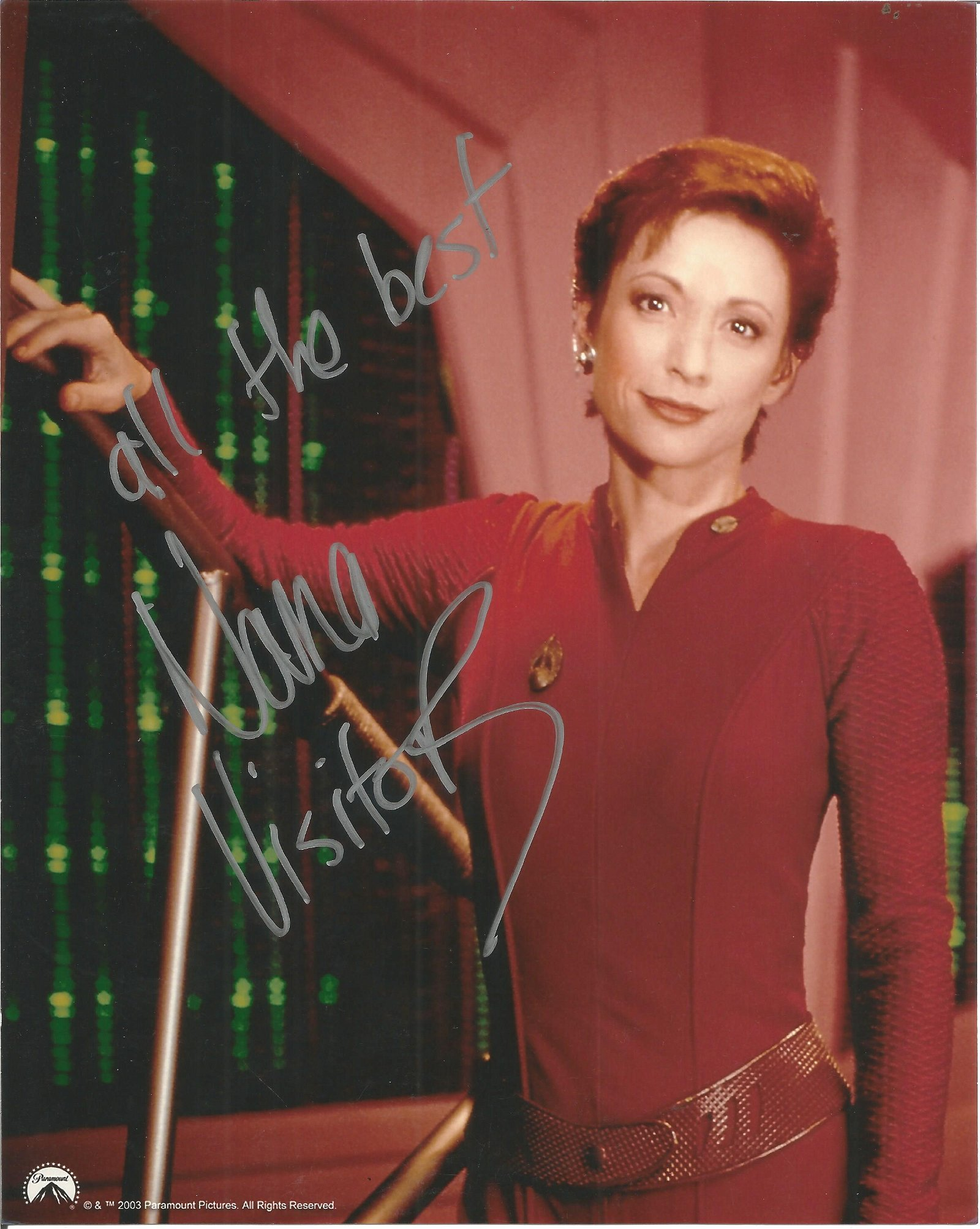 Nana Visitor signed 10x8 colour photo Star Trek. Good