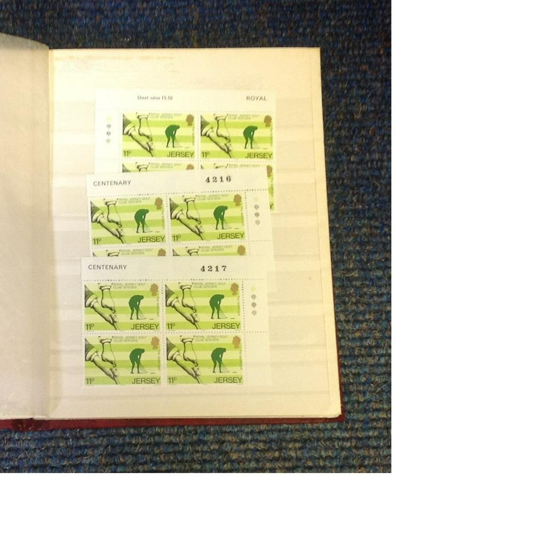 Jersey and Isle of Man unmounted mint stamp collection
