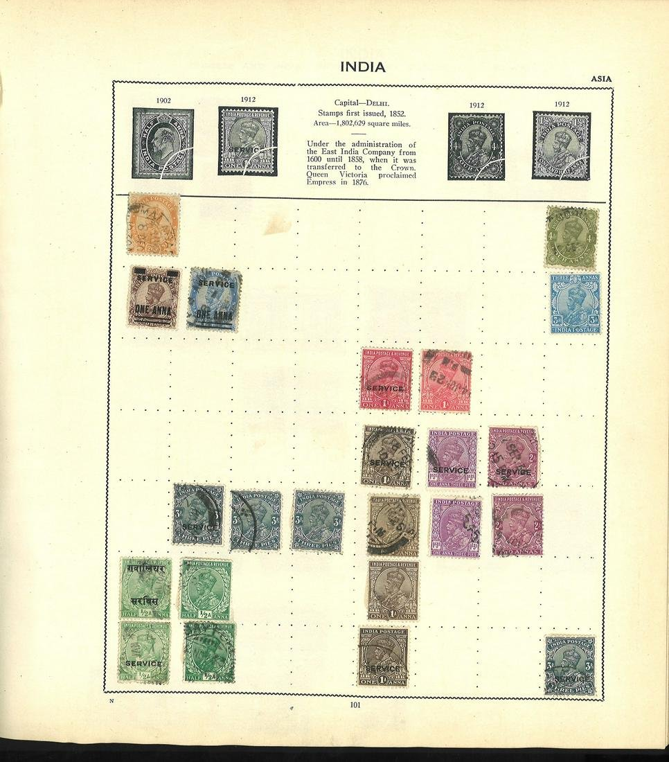 World Stamp collection housed in a Triumph Stamp album