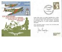 John Cunningham signed 40th anniversary of the Battle