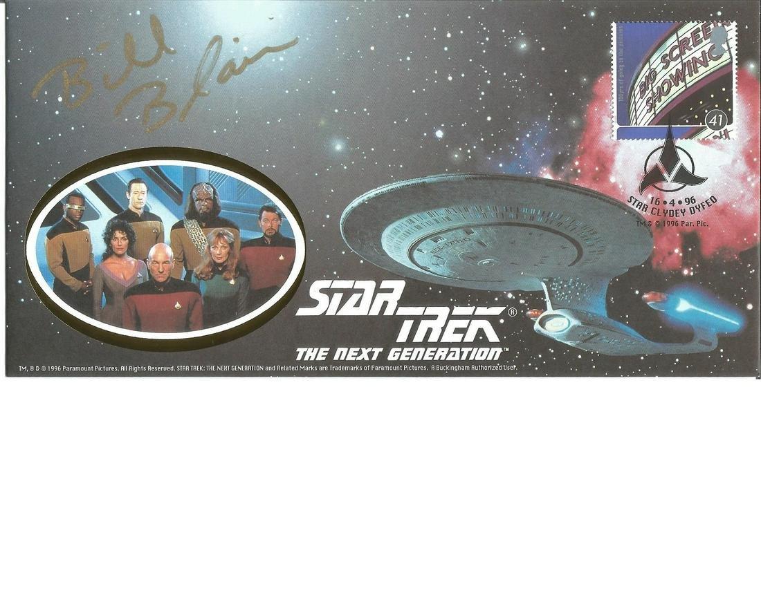 Bill Blair signed commemorative Star Trek cover. Good