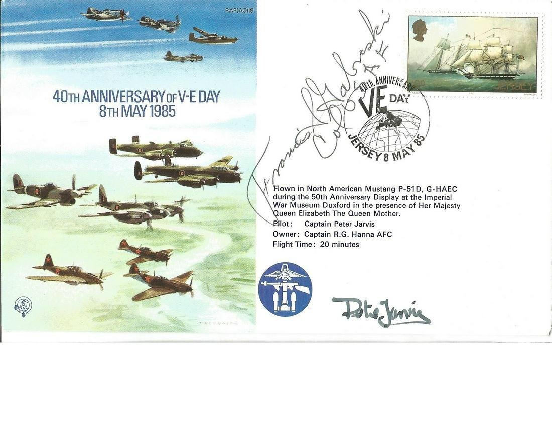 US WWII Ace. Gabby Gabreski signed card