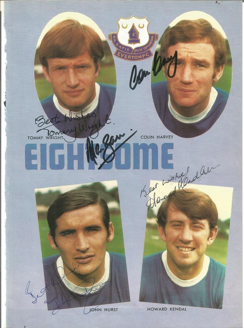 Football Everton Signature piece 11x8 magazine photo