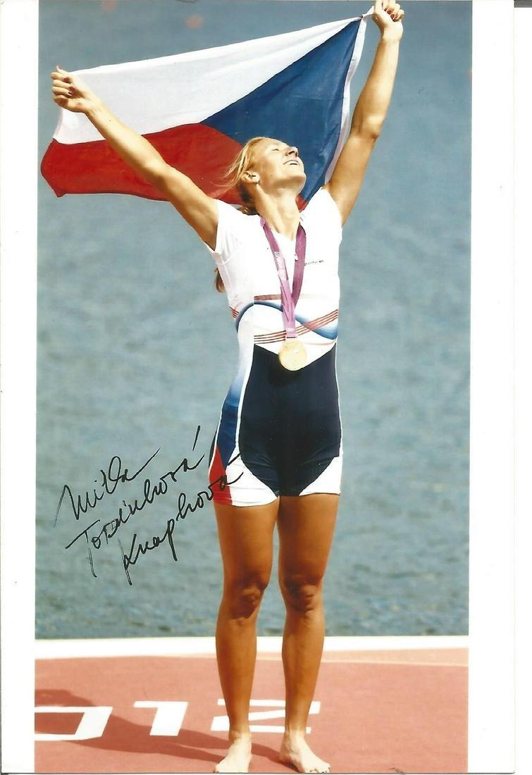 Olympics Miroslava Knapkova signed 6x4 colour photo of