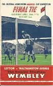 Football Vintage Programme Leyton v Walthamstow Avenue