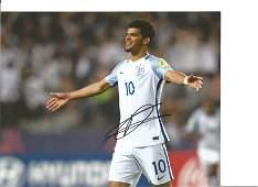 Dominic Solanke Signed England 8x10 Photo. Good