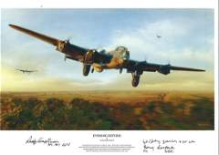 Dambuster signed World War Two 75 Squadron Lancaster