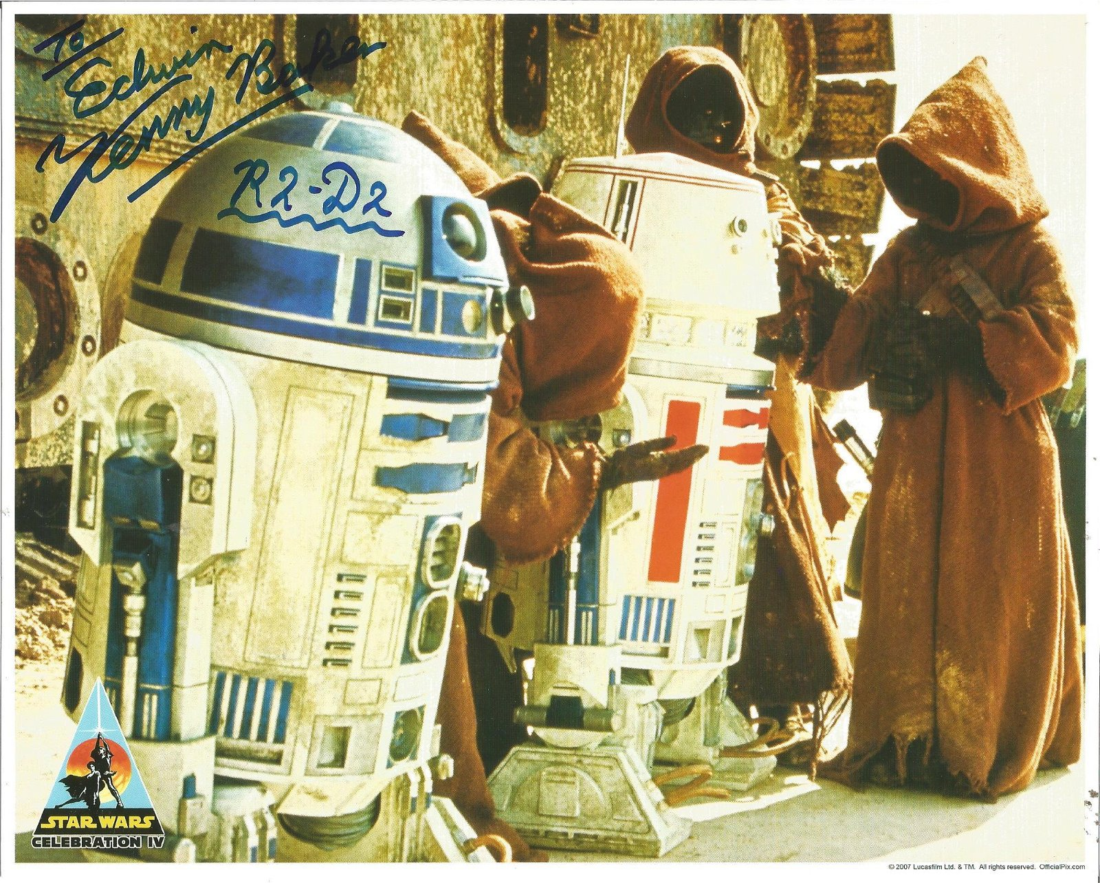 Kenny Baker R2-D2 from Star Wars signed 10x8 colour