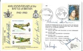 Battle of Britain WW2 RAF fighter aces multiple signed