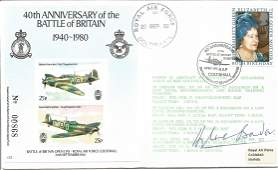 Sir Douglas Bader DSO DFC WW2 fighter ace signed 50th