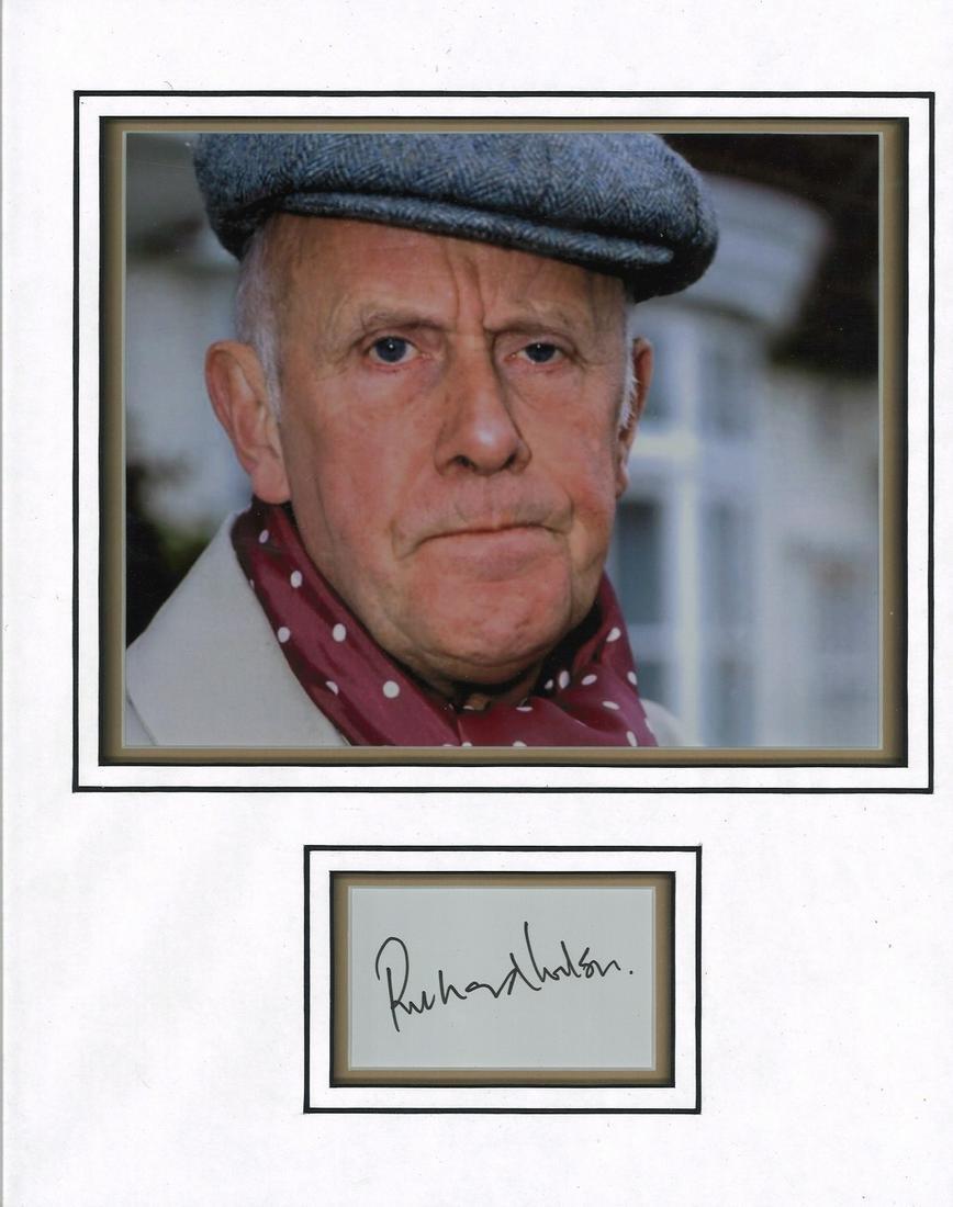 Richard Wilson signed autograph presentation. High