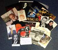 Music and Screen collection includes signed photos,