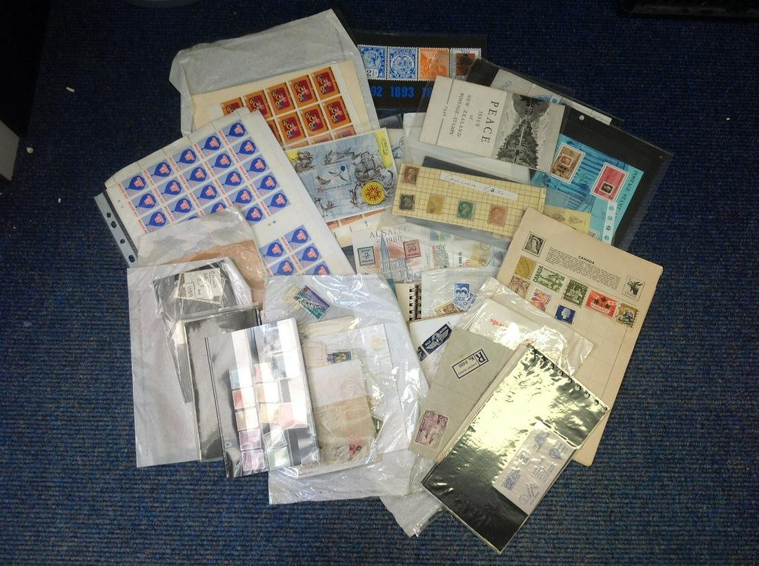 Worldwide stamp collection include stamp sheets mint