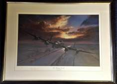 World War Two framed and mounted print 22x29 titled The