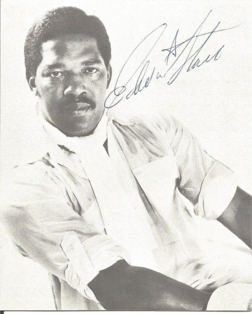 Edwin Starr signed 5x4 black and white photo. January