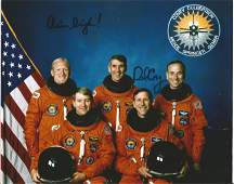 Dick Covey signed STS38 10 x 8 colour crew photo