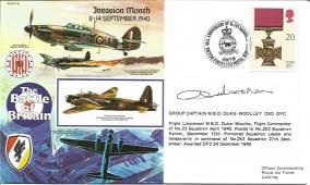 Grp Capt Duke Woolley DSO DFC WW2 BOB pilot signed