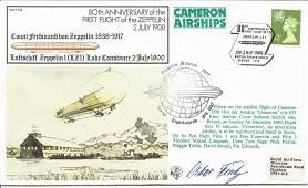 Oskar Fink signed 80th Anniversary of the first flight