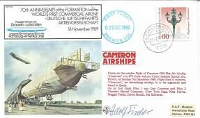 Zeppelin Ace Adolf Fischer signed 1980 70th ann