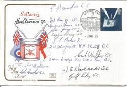 Gallantry multi signed FDC Signed by 15 including E