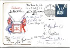 Gallantry multi signed RAF cover Signed by 13