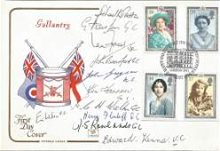 Victoria and George Cross multisigned cover 1990