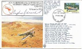 Air Cdre Sir Hughie Edwards VC signed 60th Anniversary