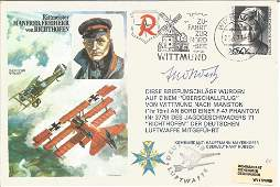 Fred West VC Great War fighter pilot signed RAF cover
