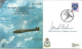 Grp Capt Leonard Cheshire VC signed A W Whitley bomber