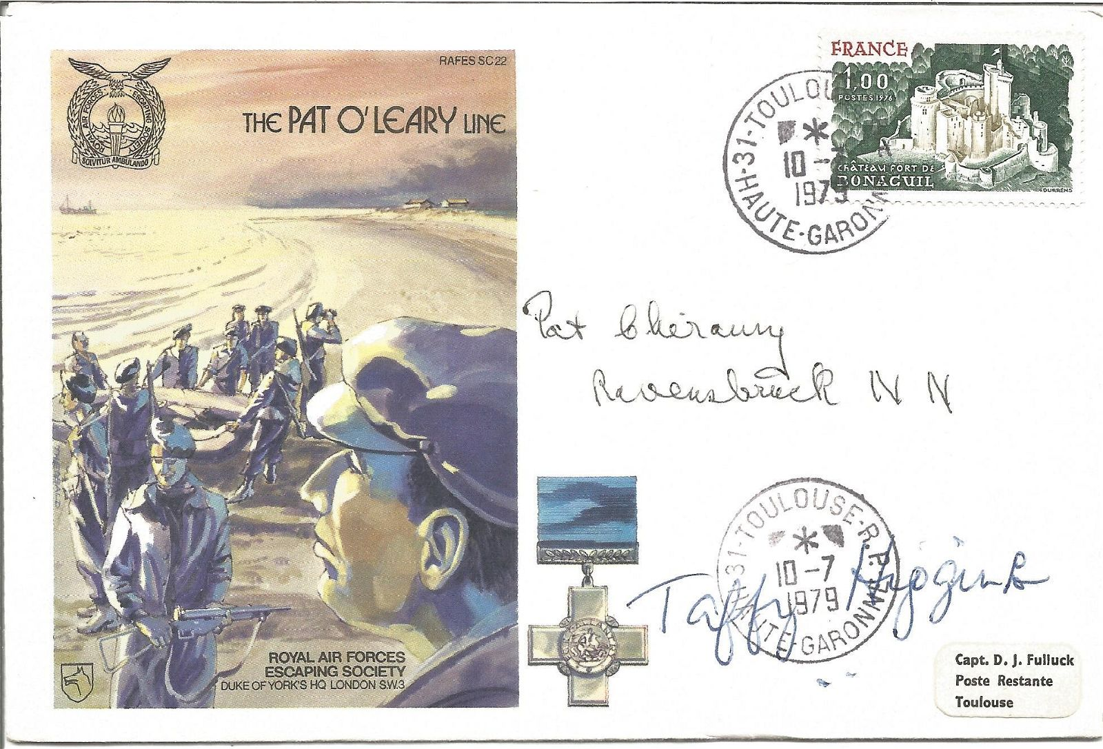 The Pat O'Leary Line signed RAF cover No 166 of 1060.