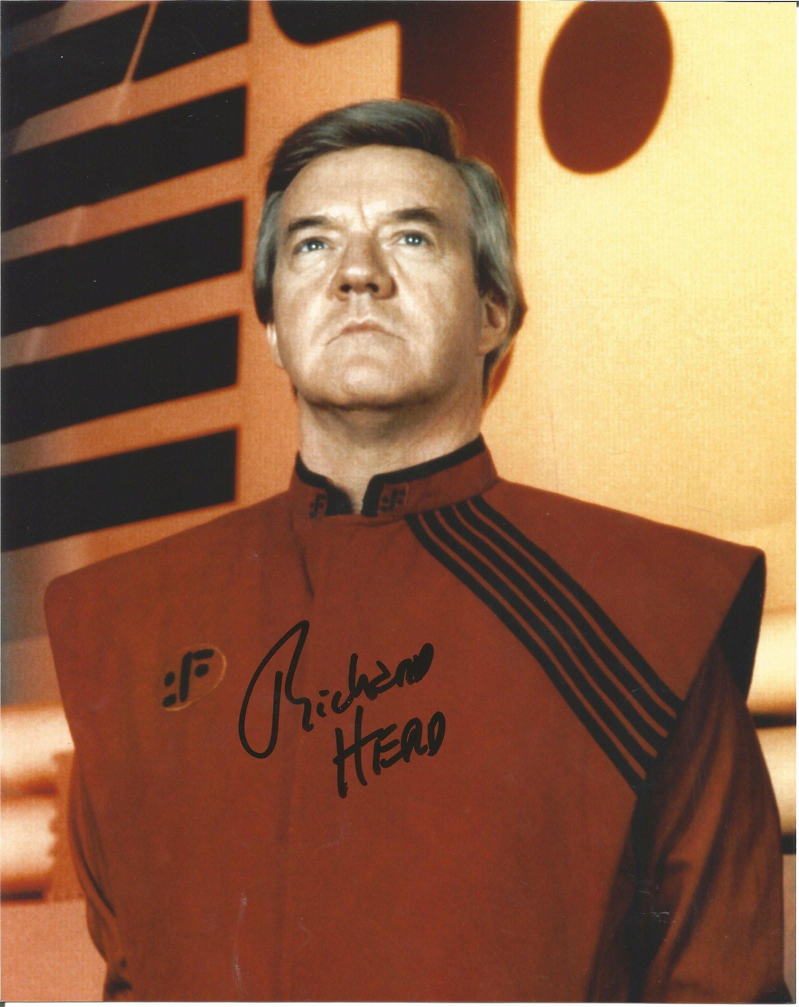 Richard Herd Star Trek etc signed authentic 10x8 colour