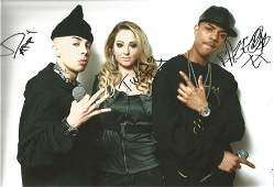 Music N Dubz signed 12x10 inch colour photo signed by