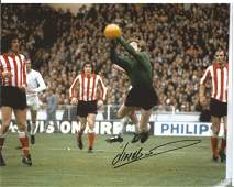 Football Jim Montgomery signed 8x10 colour photo