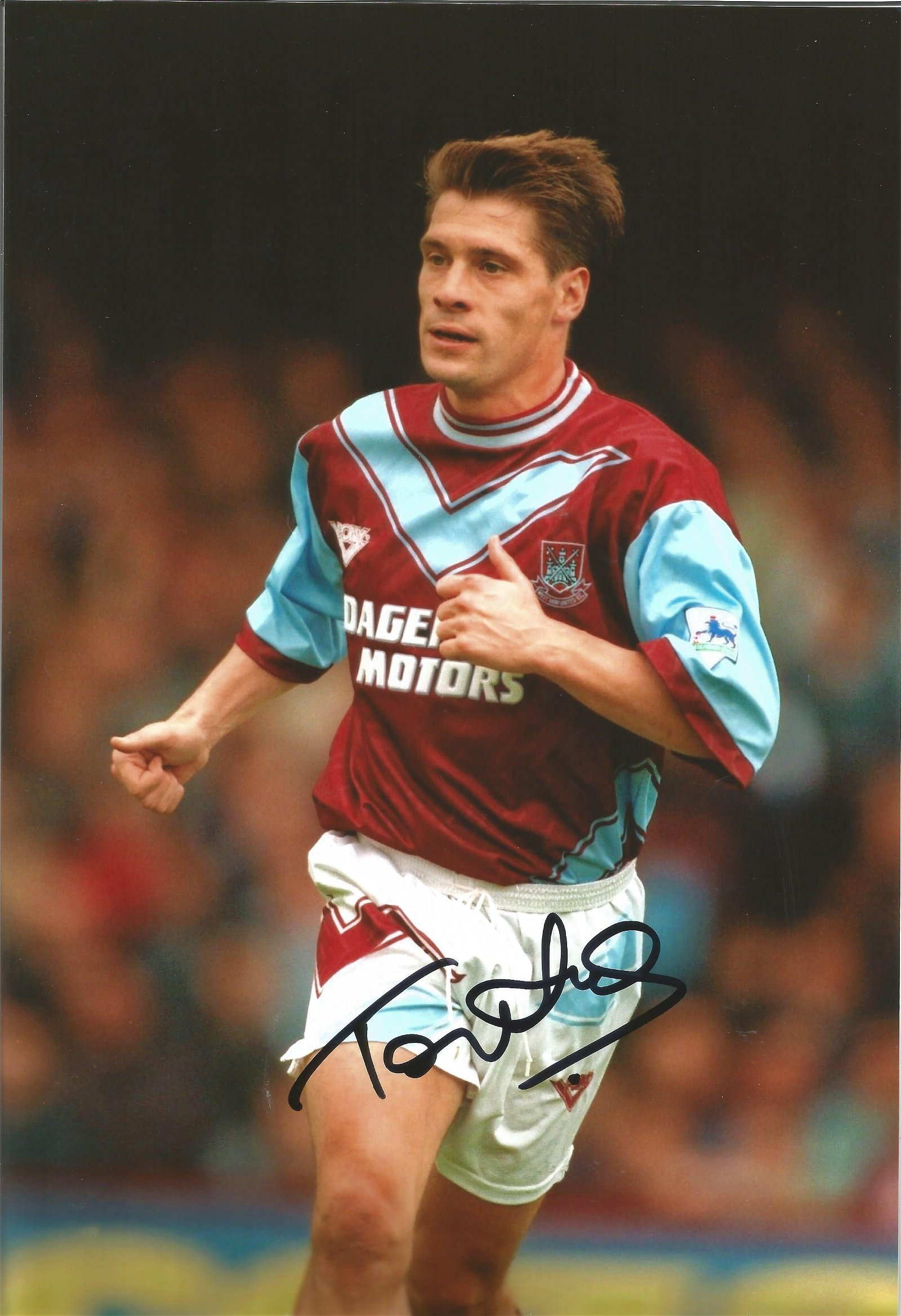 Football Tony Cottee signed 12x8 colour photo pictured